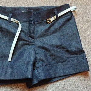 Express Denim Sheen Short with Belt